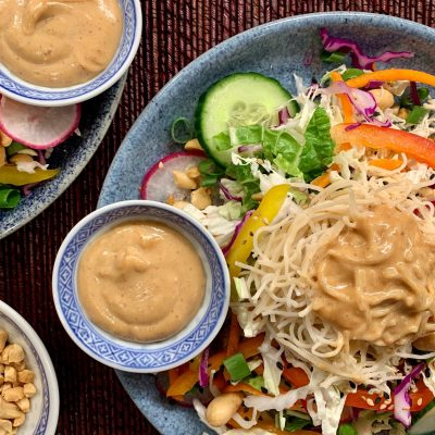 Chopped Thai Salad with Peanut Sauce